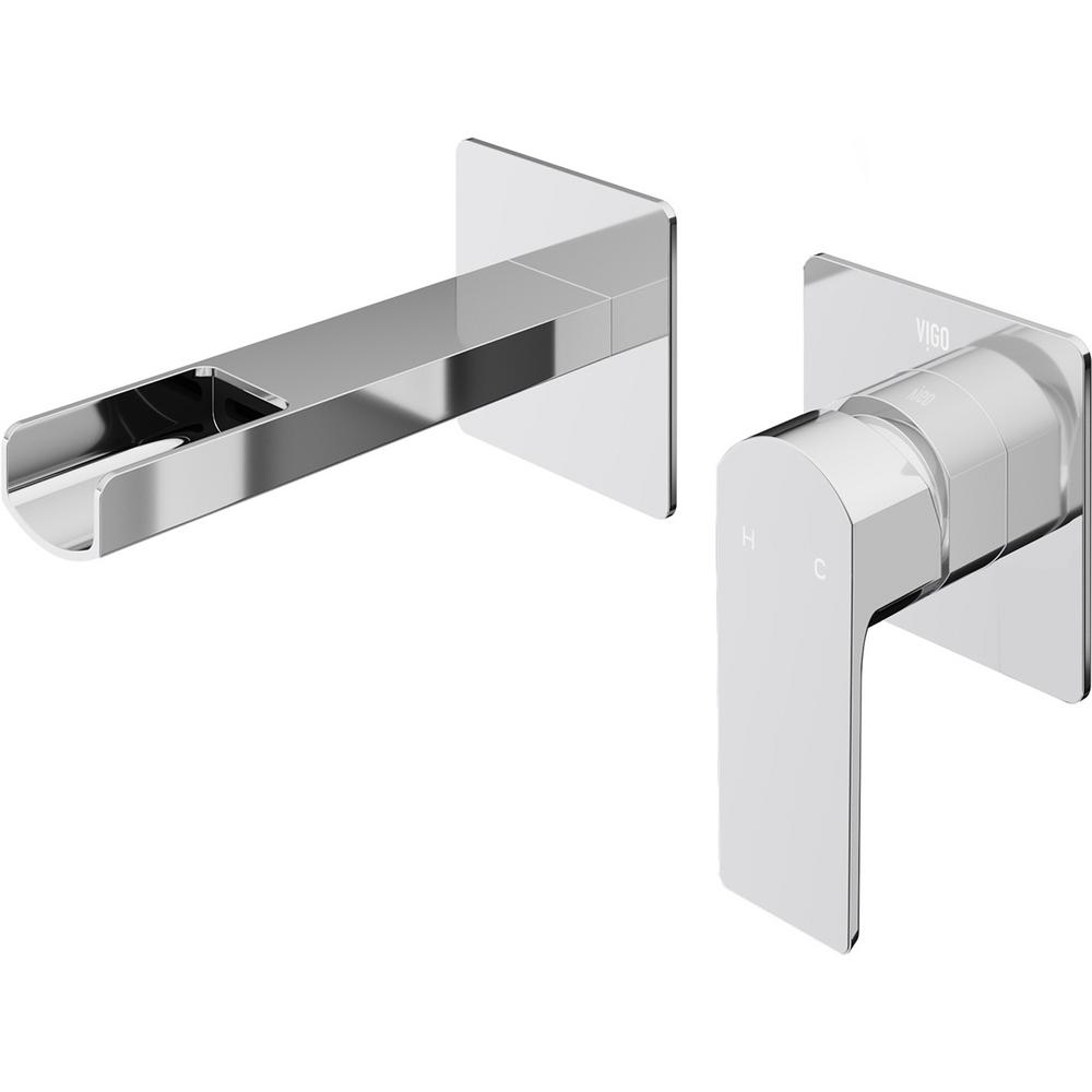 VIGO Atticus Single-Handle Wall Mount Bathroom Faucet in Chrome