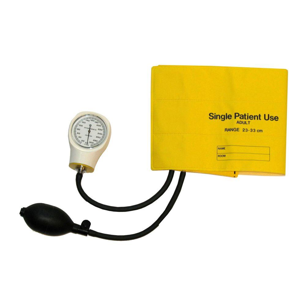 null Single-Patient Use Sphygmomanometer for Adult in Yellow