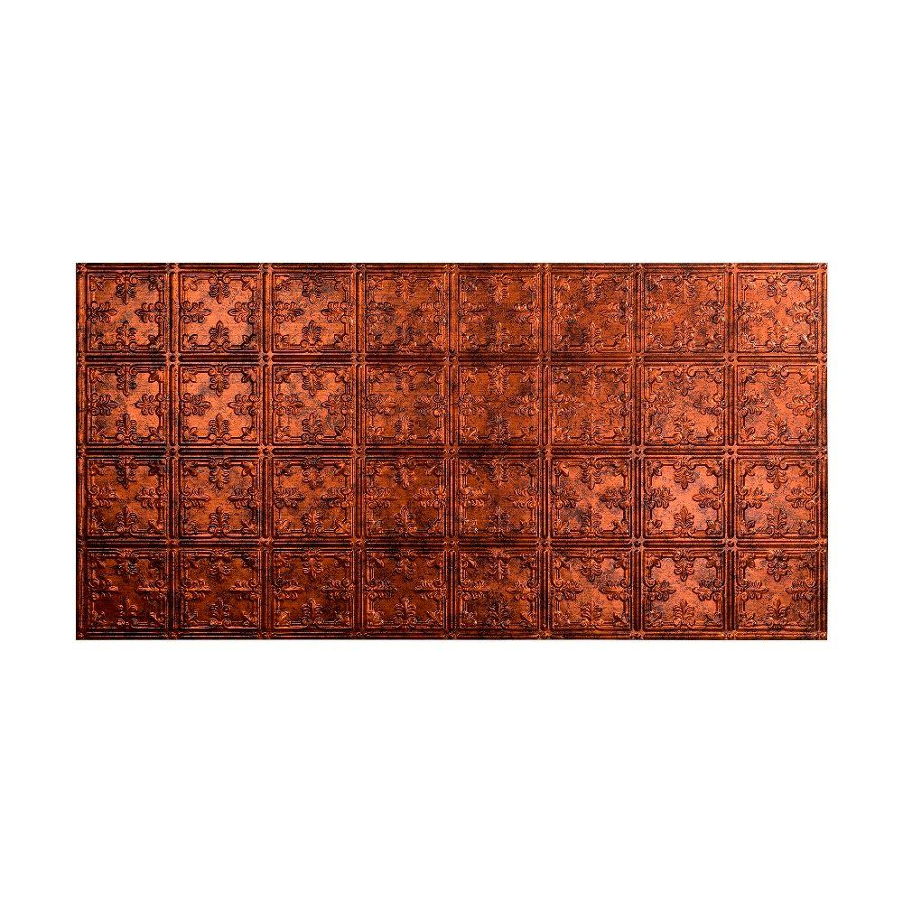 Fasade Traditional 10 - 2 ft. x 4 ft. Glue-up Ceiling Tile in Moonstone Copper