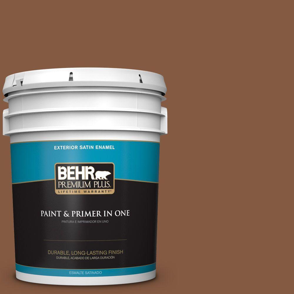 5-gal. #ICC-80 Cinnamon Spice Satin Enamel Exterior Paint
