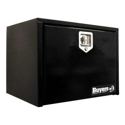 14 in. x 12 in. x 24 in. Black Steel Underbody Truck Box with T-Handle Latch