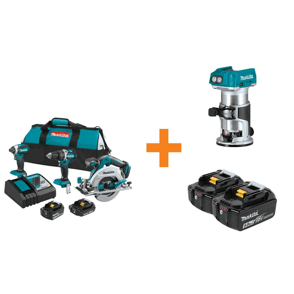 18-Volt LXT Lithium-Ion Brushless Cordless Combo Kit (3-Tool) with Bonus Compact