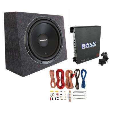 12 in. 300-Watt Subwoofer and Sealed Box and Mono Amp and Wiring Kit