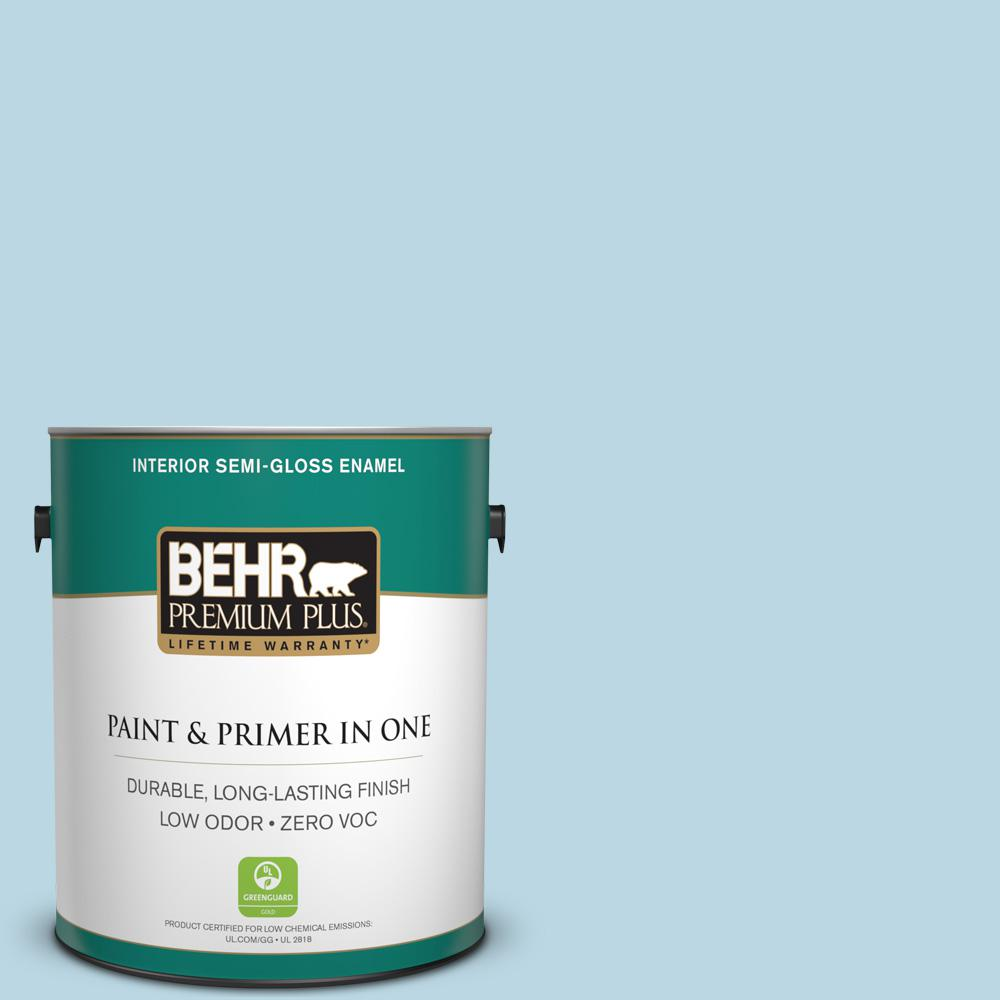 1-gal. #S490-2 Glacial Stream Semi-Gloss Enamel Interior Paint