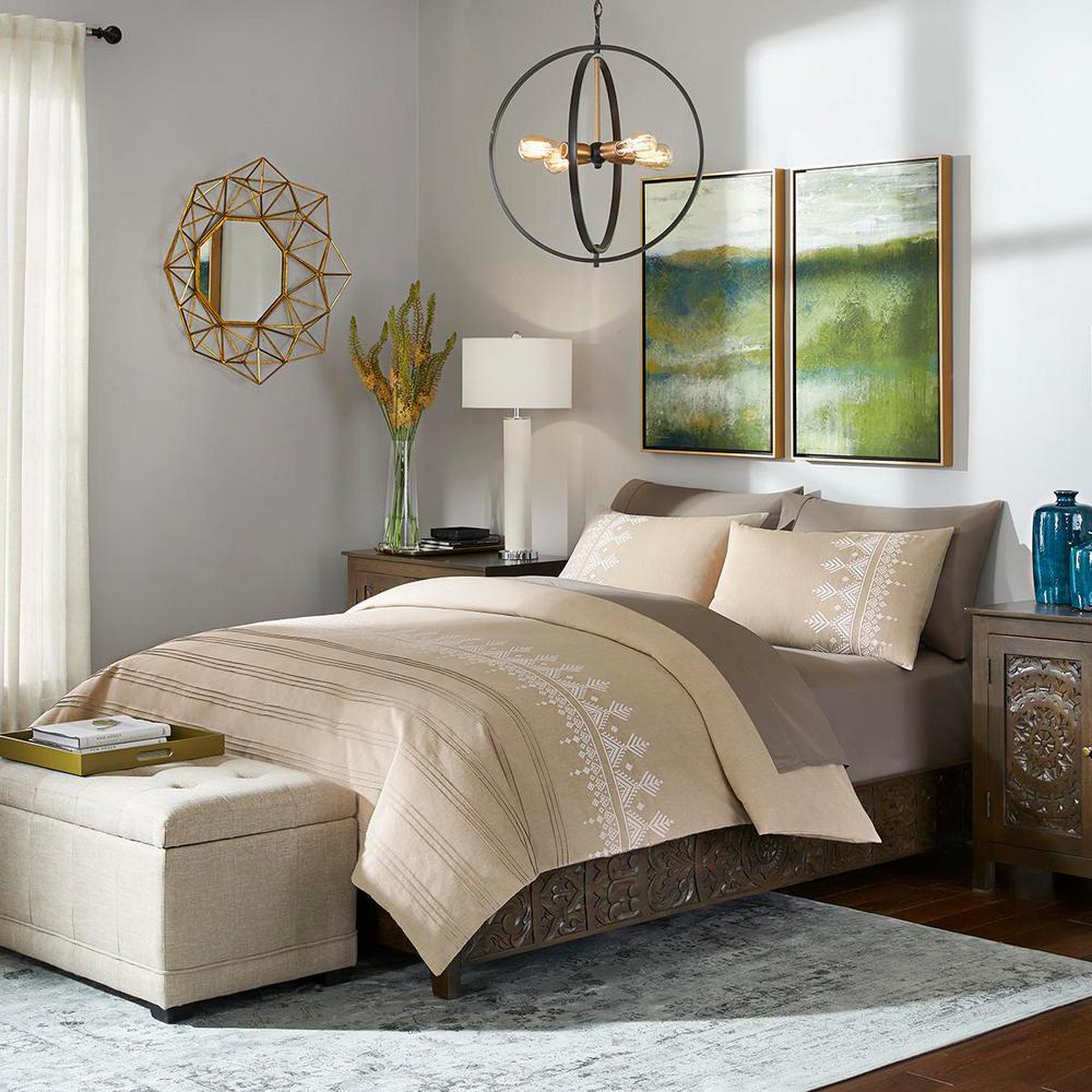 Home Decorators Collection Roanne 3-Piece Khaki Stripe