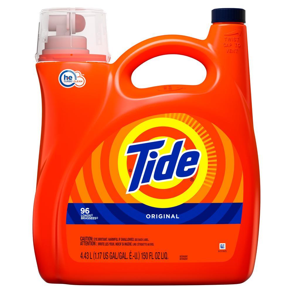 Tide 150 Oz Original Scent He Liquid Laundry Detergent