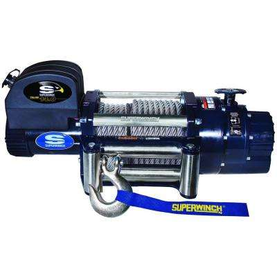 Talon 14.0 12-Volt DC Industrial Winch with 4-Way Roller Fairlead and 15 ft. Remote