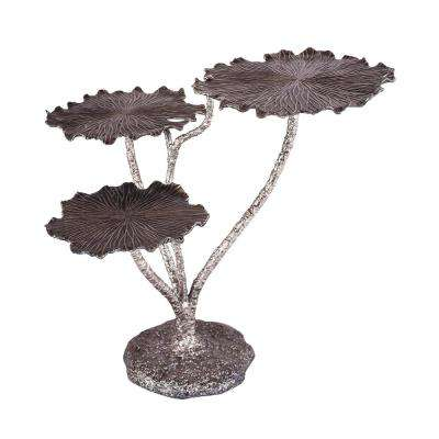 Victoria Short Antique Nickel Accent Table