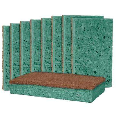 Outdoor Soap-Infused X-Large Heavy-Duty Odor and Bacteria Resistant Scrub Sponge (9-Pack)