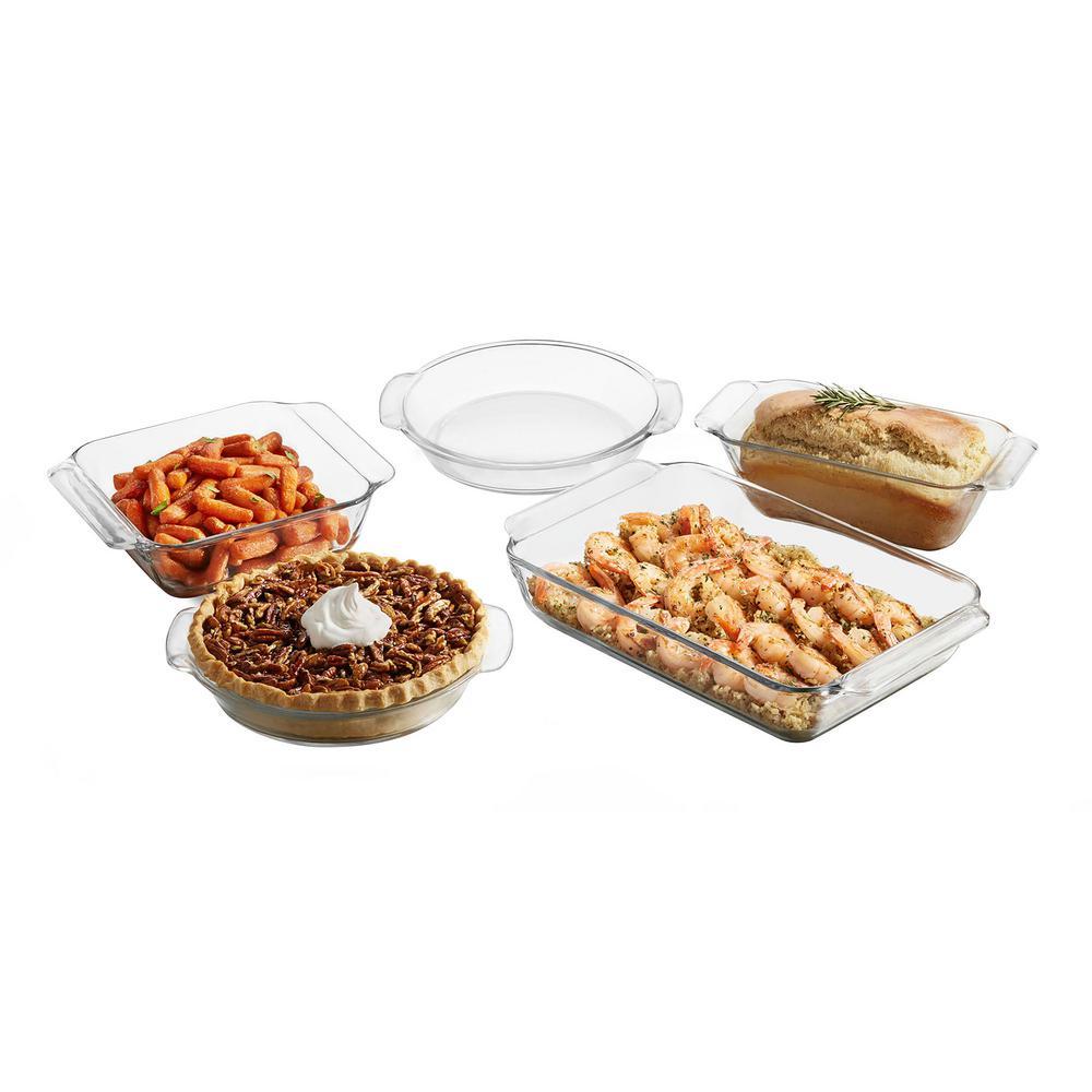 Baker's Premium 5-Piece Assorted Glass Baker Set