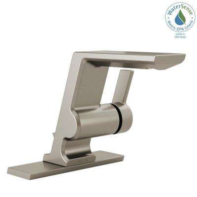 Pivotal Single Hole Single-Handle Bathroom Faucet with Metal Drain Assembly in Stainless