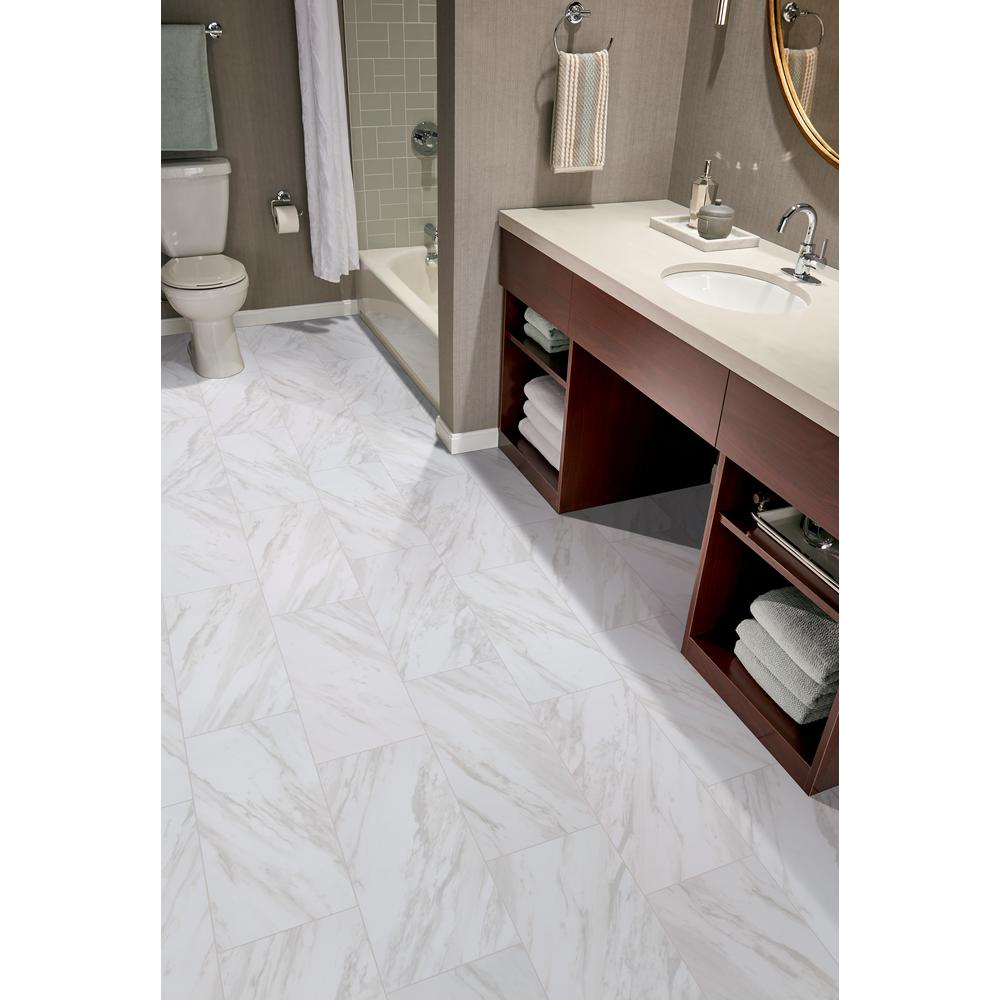Home Decorators Collection Kolasus White 12 In X 24 Glazed Porcelain Floor And Wall Tile 16 Sq Ft Case