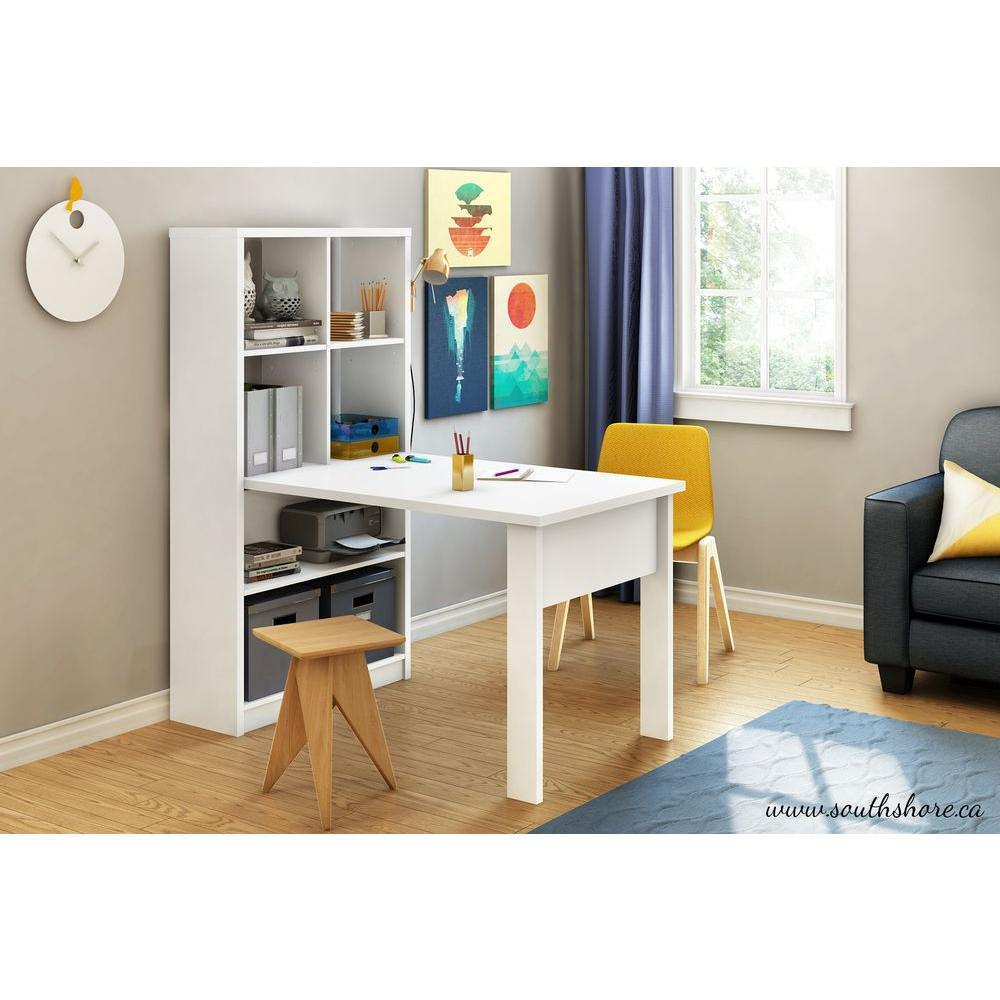 south shore annexe 2 in 1 piece pure white office suite