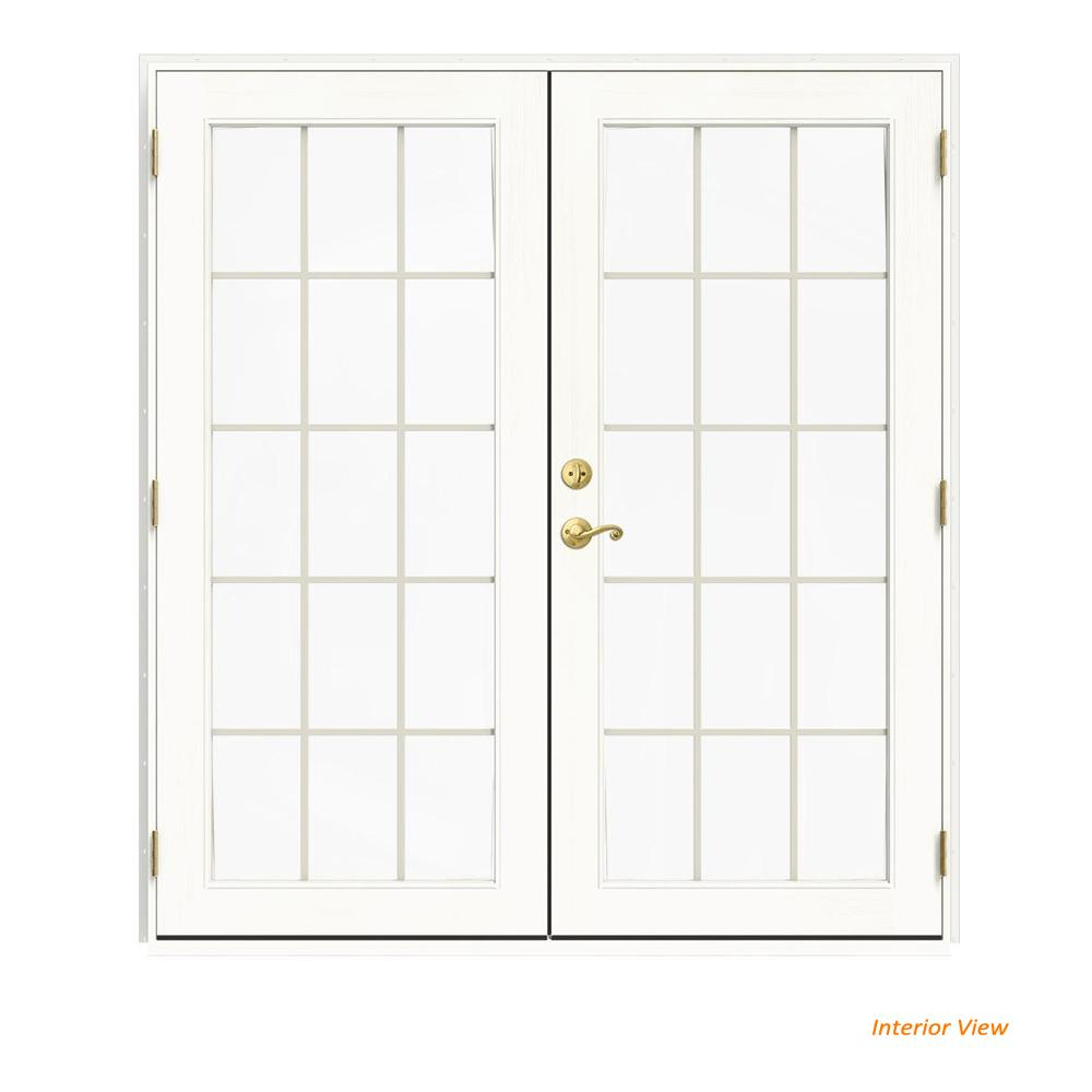 72 in. x 80 in. W-2500 White Clad Wood Left-Hand 15