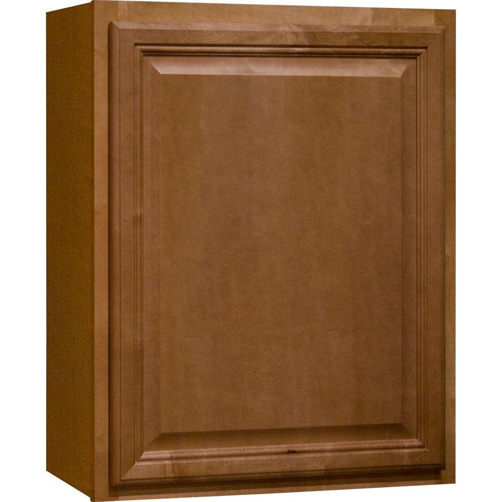 Hampton Bay Cambria Assembled 24x30x12 in. Wall Kitchen Cabinet in Harvest