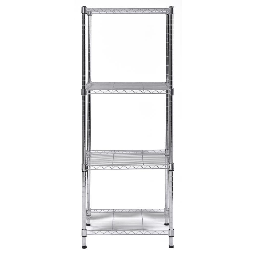 honey can do 4 tier storage shelf white wire shf 05270 the home depot rh homedepot com