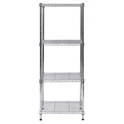 47 in. H x 18 in. W x 18 in. D 4-Shelves Steel Wire Chrome Finish Commercial Shelving Unit