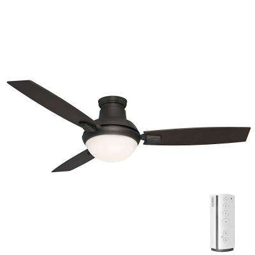Verse 54 in. LED Indoor/Outdoor Maiden Bronze Ceiling Fan