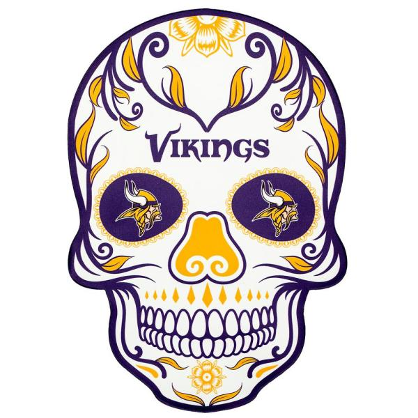 Applied Icon Nfl Minnesota Vikings Outdoor Skull Graphic