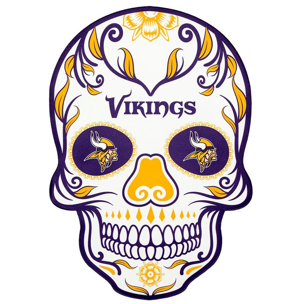NFL Minnesota Vikings Outdoor Skull Graphic- Large