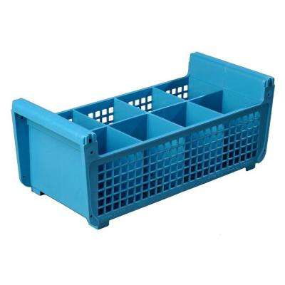 17.06 x 7.75 in. Flatware Basket for Dishwashing without handles in Blue (Case of 6)