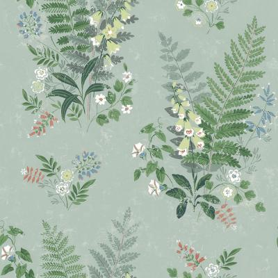 Foxglove Sage Botanical Wallpaper Sample