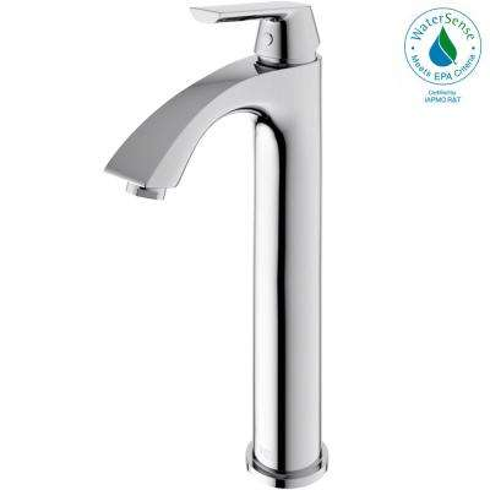 Single Hole 1-Handle Low-Arc Bathroom Faucet in Chrome