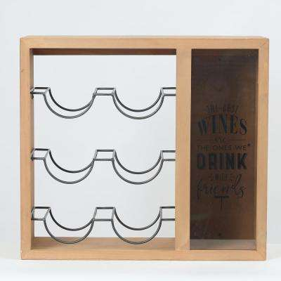 Wine Bottle and Cork Wood Wall Holder