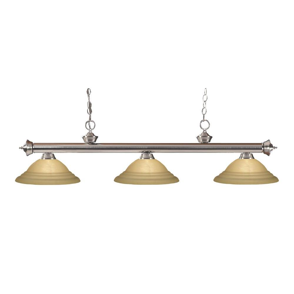 Filament Design Lawrence 3-Light Brushed Nickel Island Light