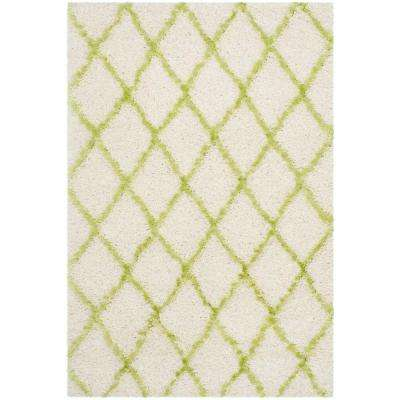 Moroccan Shag Ivory/Green 4 ft. x 6 ft. Area Rug