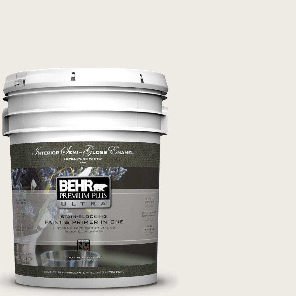 5-gal. #BWC-20 Melting Icicles Semi-Gloss Enamel Interior Paint