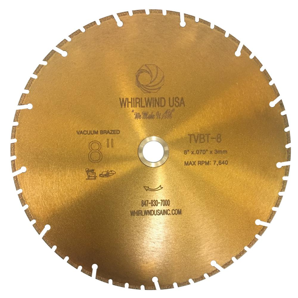 Whirlwind usa 8 in 52 teeth segmented diamond blade for dry and wet 52 teeth segmented diamond blade for dry and wet metal greentooth Gallery