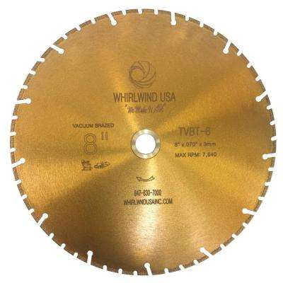8 in. 52-Teeth Segmented Diamond Blade for Dry and Wet Metal Cutting