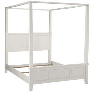2 Home Styles Naples White King Canopy Bed
