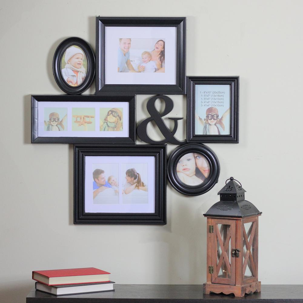 Black Multi Sized Photo Picture Frame Collage Wall Decoration 31812283 The Home Depot