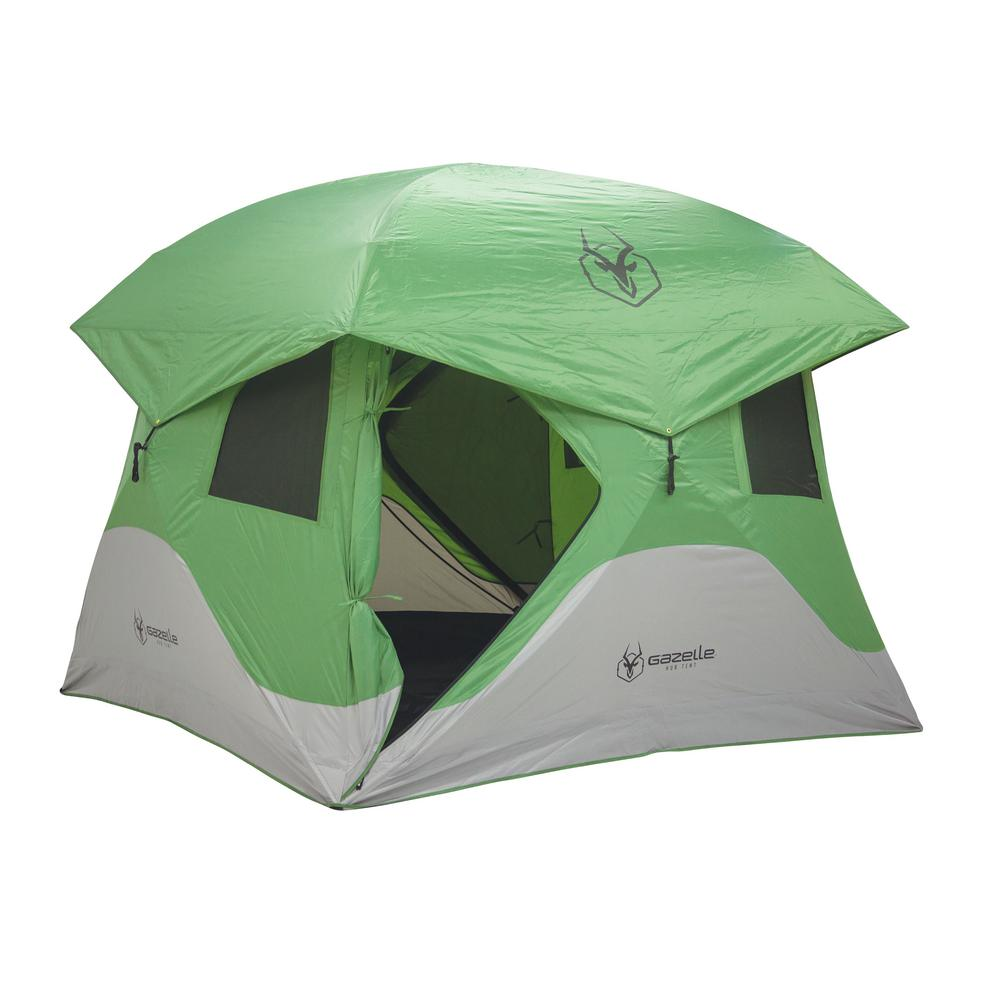 Gazelle 30400 T4 4-Person Green Pop Up Portable C&ing Hub Tent  sc 1 st  Home Depot & Gazelle 30400 T4 4-Person Green Pop Up Portable Camping Hub Tent ...
