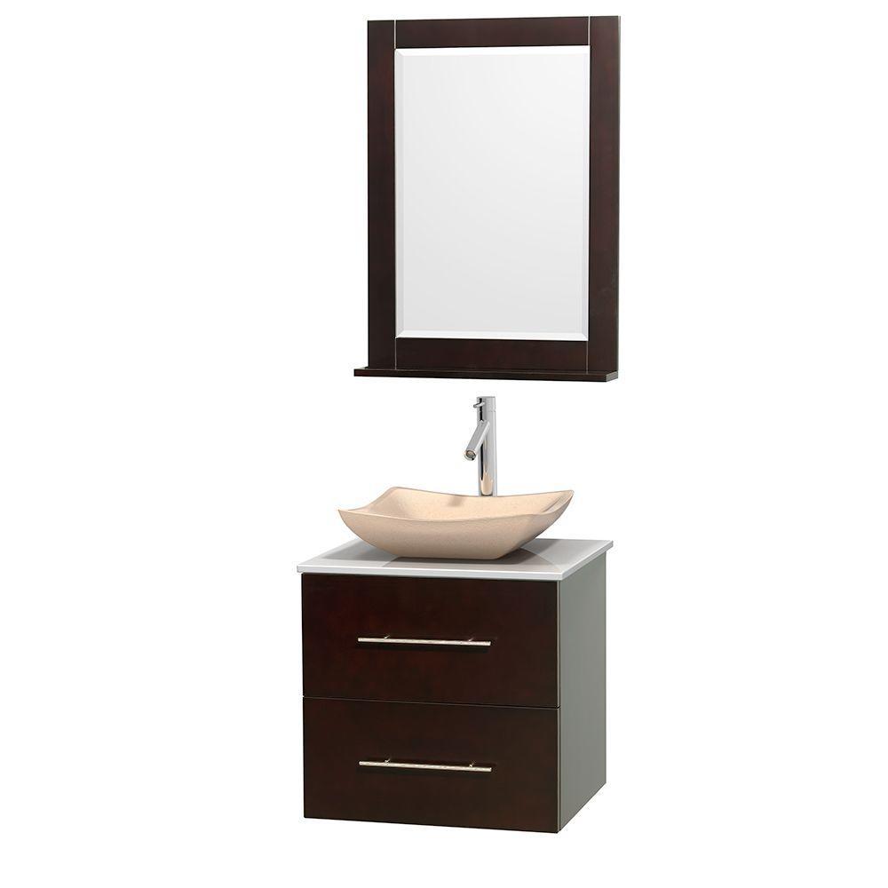 Vanity Marble Vanity Top Ivory White Marble Sink Mirror 1323