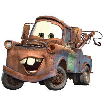 5 in. x 19 in. Cars Mater Peel and Stick Giant Wall Decal (7-Piece)