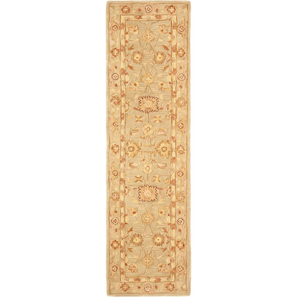 safavieh anatolia sage 2 ft 3 in x 8 ft rug runner an556k 28 the home depot. Black Bedroom Furniture Sets. Home Design Ideas
