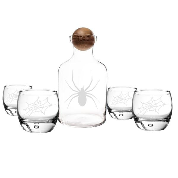 undefined Toxic Spider Glass Decanter (Set of 5)