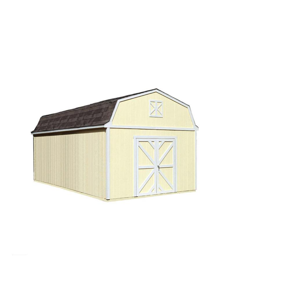 Handy home products sequoia 12 ft x 20 ft wood storage for 12 x 20 shed floor framing