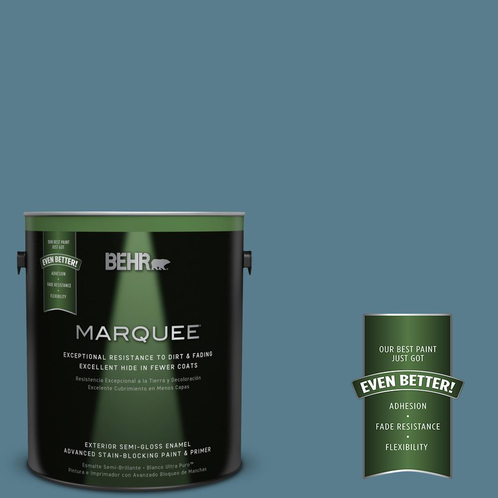 1-gal. #HDC-FL14-11 Cotton Denim Semi-Gloss Enamel Exterior Paint