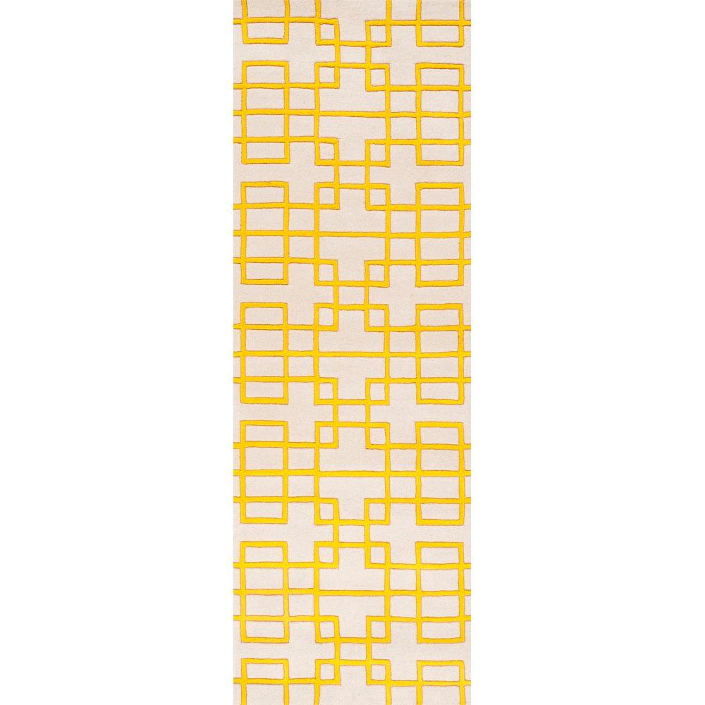 Artistic Weavers Herbert Lemon 2 ft. 6 in. x 8 ft. Rug Runner