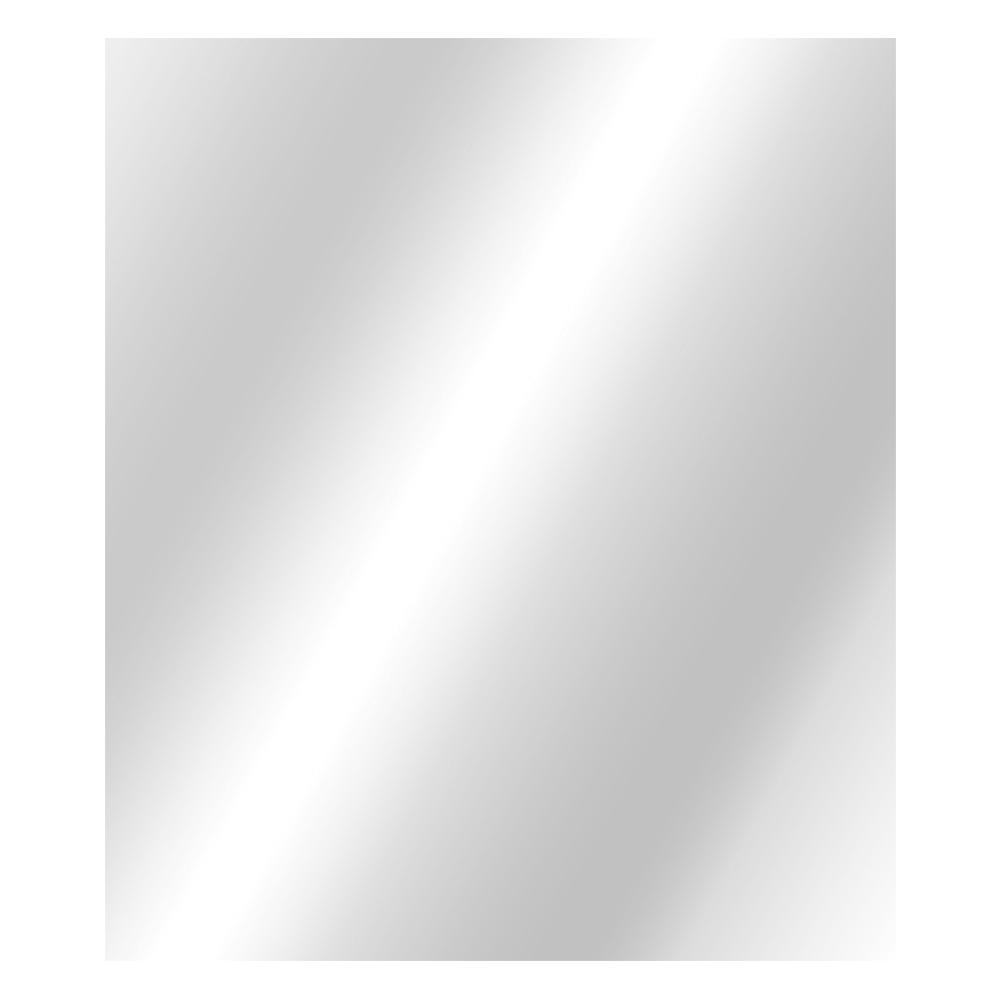 36 in. W x 42 in. H Frameless Rectangular  Bathroom Vanity Mirror in Silver