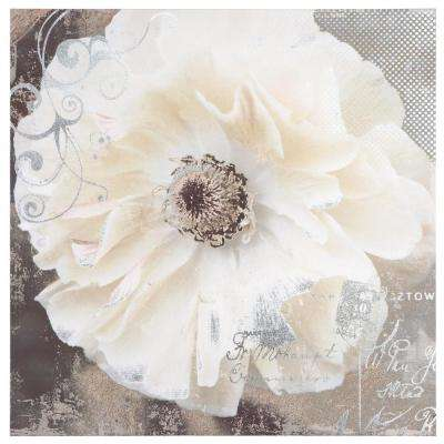 "20 in. x 20 in. ""Blooming Softly I"" Printed Contemporary Artwork"