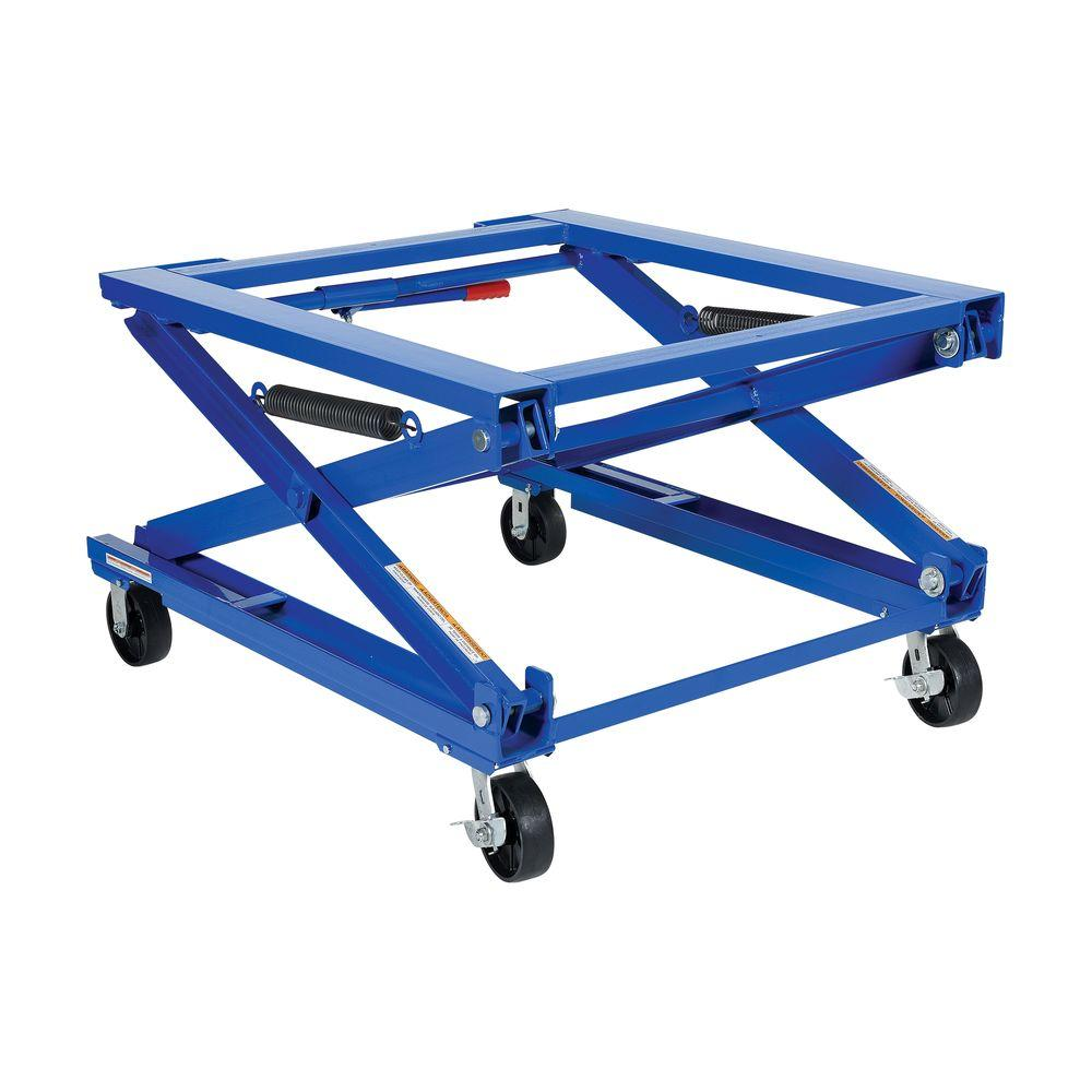 1,500 lb. Adjustable Pallet Stand with Optional Caster Kit