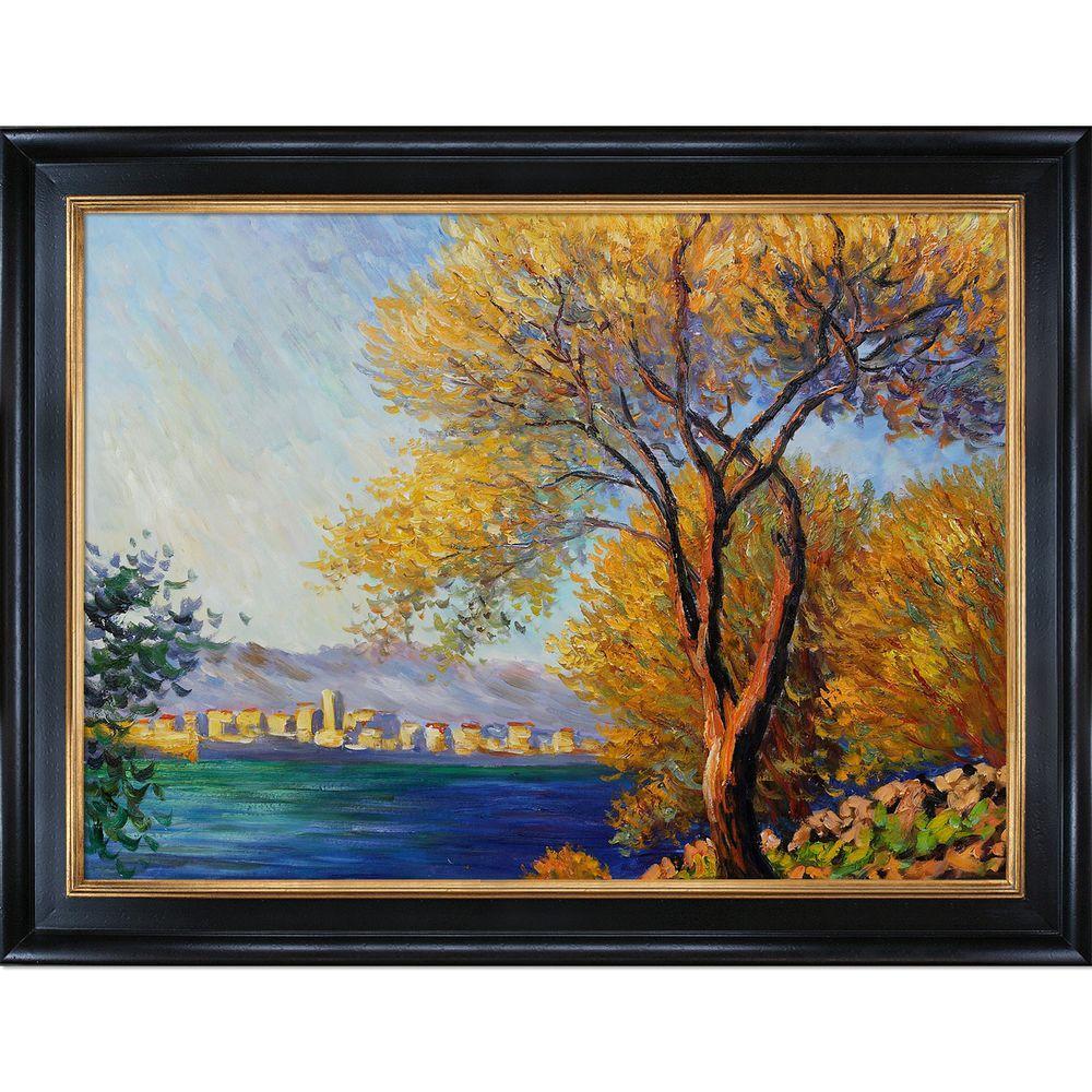 null 30 in. x 40 in. Antibes, View of Salis Hand-Painted Vintage Artwork