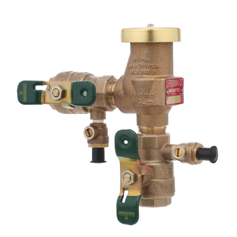 3/4 in. Lead Free Anti-Siphon Pressure Vacuum Breaker Backflow Preventer