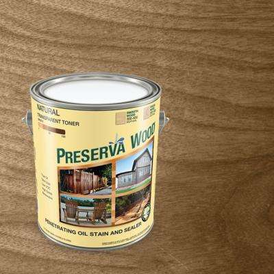 1 Gal. Oil-Based Transparent Natural Penetrating Exterior Wood Stain and Sealer