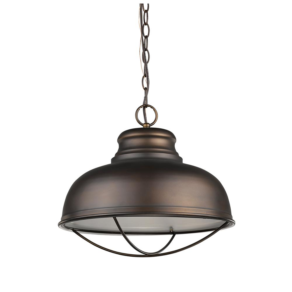 Acclaim Lighting Ansen Indoor 1-Light Oil Rubbed Bronze Pendant with Metal Shade
